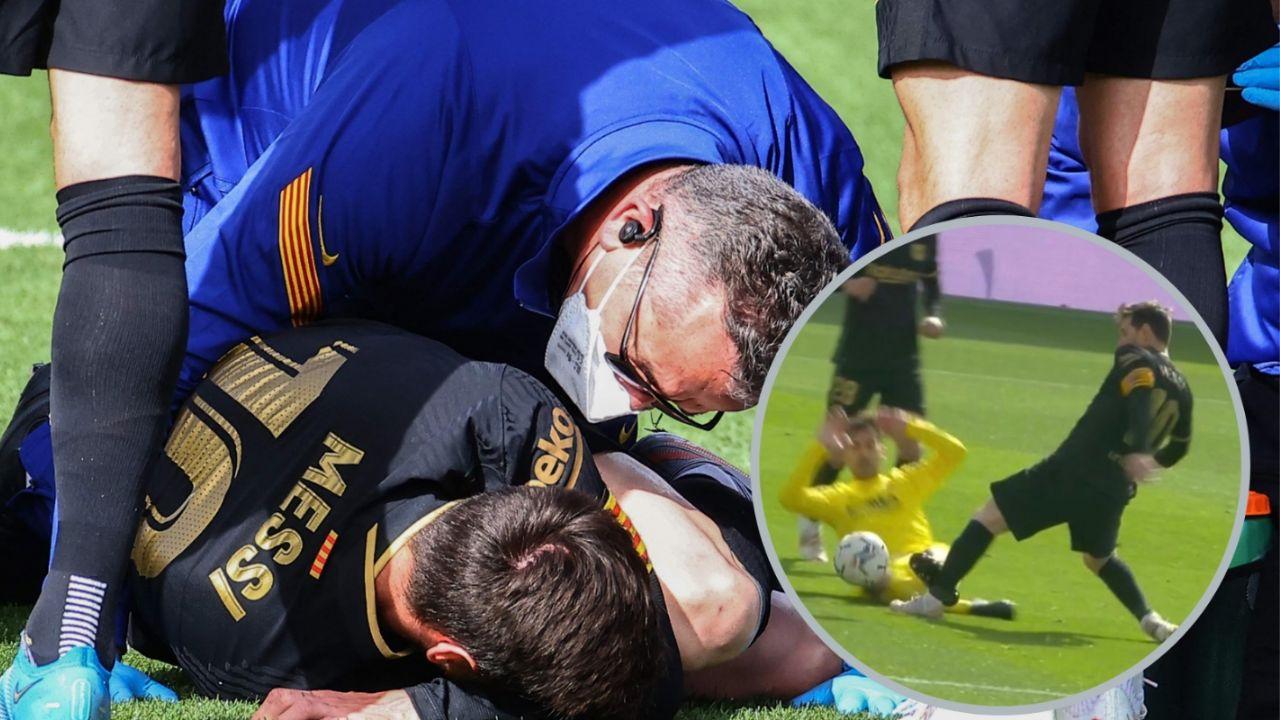 La terrible entrada que sufrió Lionel Messi en el triunfo del Barcelona |  Minuto Deportes
